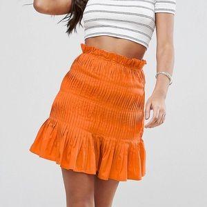 ASOS orange skirt